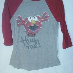 Mighty Fine Tops - Women's 3/4 Sleeve, Elmo Tee by Mighty Fine