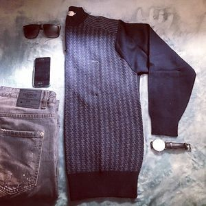Kin Don Other - 🔥NEW🔥Men Merino Wool Slim Fit Zip Up Sweater S