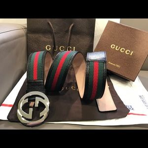 Gucci Other - 🔥 Authentic Gucci Belt Men Green Red Black 32 34