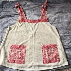 Ecote Tops - Gorgeous large NWT cream and red ecote blouse