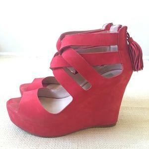 Dolce Vita Shoes - Dolce Vita Jade Wedge sandal size 8 red