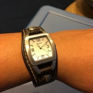 Fossil Womens leather watch