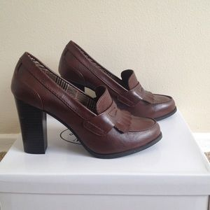 FIONI Clothing Shoes - Fioni Brown Heels