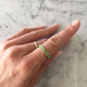 Jewelry - Green + Gold Simple Band