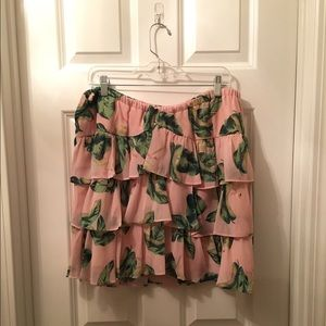 The Webster Miami  Dresses & Skirts - Flamingo Palm Printed Ruffle Layer Skirt