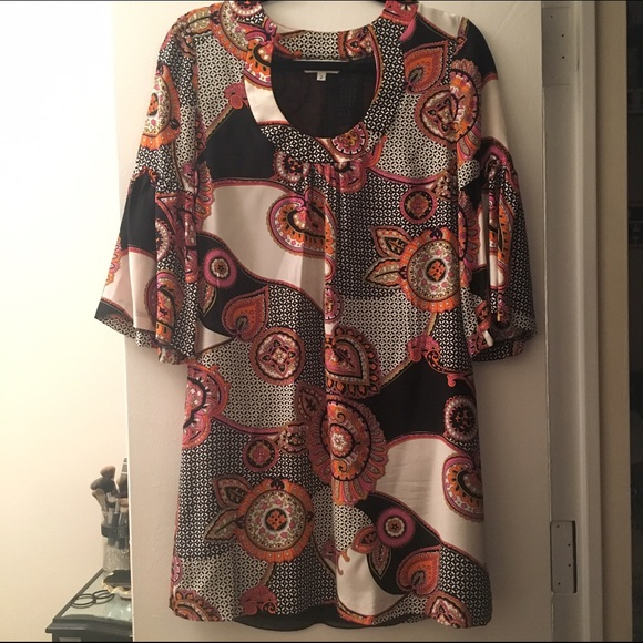Trina Turk Dresses & Skirts - Trina Turk Silk Paisley 3/4 Sleeve Dress