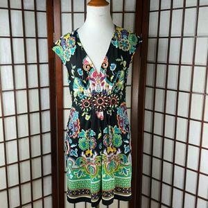 ECI Dresses & Skirts - ECI NEW YORK Paisley  Mini Dress Size M