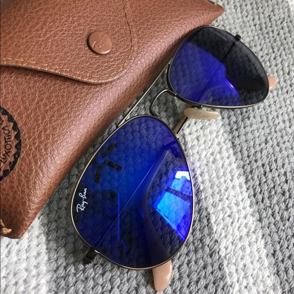 Accessories - Blue/purple aviator raybans