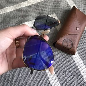 Accessories - Blue/purple aviator raybans