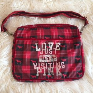 PINK Victoria's Secret Handbags - PINK LAP TOP CASE WITH STRAP