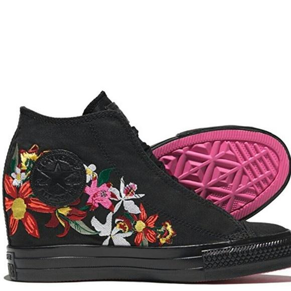 39bcb65ccc7 💕Converse PatBo Chuck Taylor Floral Sneaker Wedge