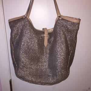 Stella & Dot Handbags - Stella and Dot Metallic Riviera Tote