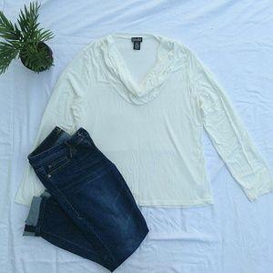 Rafaella Tops - NWOT Cream Long Sleeve Blouse