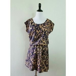 BAR III Womens Black purple Animal Print size XS