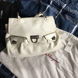 Ferragamo White Bag