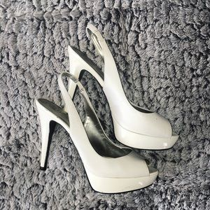 Guess Shoes - Guess White Slingback Heels