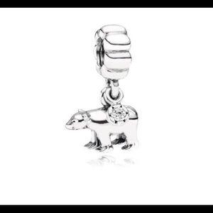 Pandora Jewelry - RETIRED Polar Bear, Clear CZ Pandora Charm