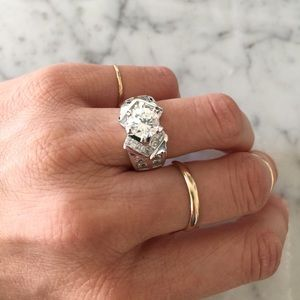 Jewelry - Silver CZ Cocktail Ring