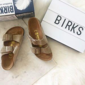 Birkenstock Shoes - Birkenstock Arizona Taupe Suede