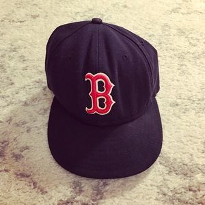 New Era Other - Navy blue & red wool Boston Red Sox hat