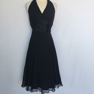 Maggy London Dresses & Skirts - Maggy London 100% silk black tie halter dress