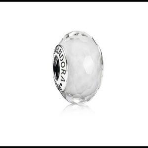Pandora Jewelry - Fascinating White Glass Pandora Bead
