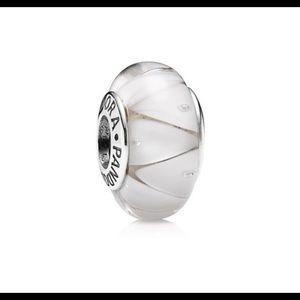 Pandora Jewelry - White Looking Glass Pandora Bead