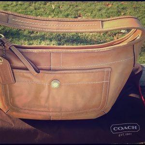 Coach Handbags - Coach Tan Leather Hobo Bag