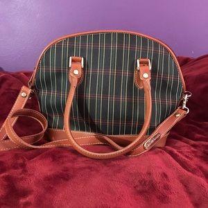 Jennifer Moore plaid leather purse. Super cute!!