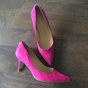 """Ivanka Trump Shoes - Ivanka Trump """"Boni"""" pink suede pumps"""