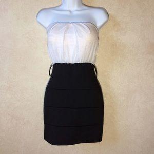 Lipstick Boutique Dresses & Skirts - Lipstick Brand Black and White Strapless Dress