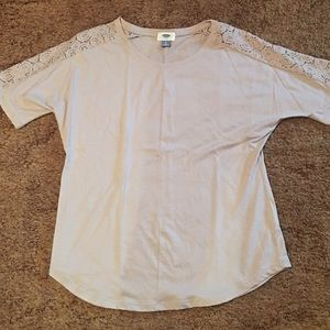 Old navy top with lace shoulder