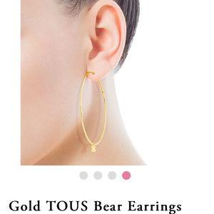 Tous Jewelry - Tous Gold Hoop Earrings