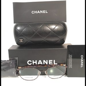 CHANEL Accessories - Chanel Titanium Square Brown Eyeglasses