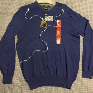 Foxcroft Other - NWT Foxcroft Men's Royal Blue V-Neck Sweater sz M