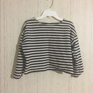 striped crop top..long sleeve