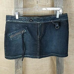 Dresses & Skirts - We Are Replay women's 31 denim jean skirt studded