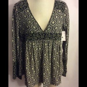 Free People Rolling Hills Bell Sleeve Tunic Sz S