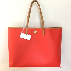Tory Burch Handbags - NWT Tory Burch Coral Poppy Cameron Tote 💋