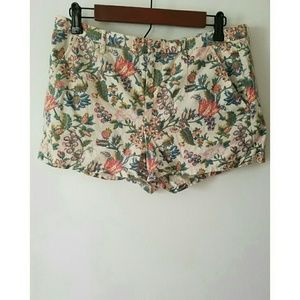 Madewell Pants - Madewell Floral Shorts *FINAL SALE*