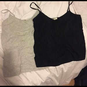 Madewell Tops - 2 Madewell Layering Camis in Black and Grey