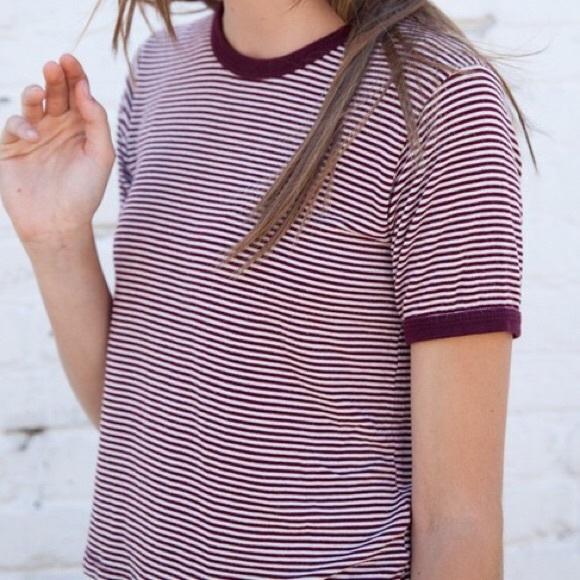 f498ab0aed Brandy Melville Tops | Nadine Top Striped Maroon | Poshmark