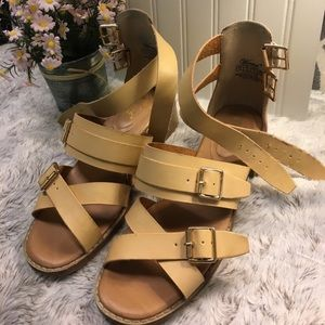 Wanted Shoes - Double Buckle Gladiator Sandals