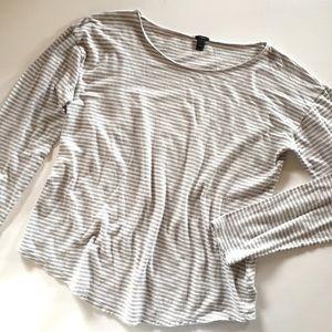J. Crew Tops - J.  Crew striped linen blend long sleeve t-shirt