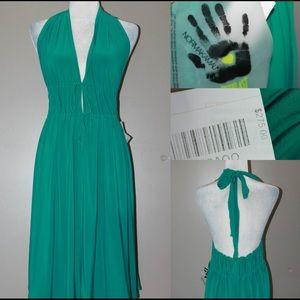 Norma Kamali Dresses & Skirts - NORMA KAMALI NWT Sexy green halter v neck dress