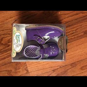 Baby Deer Shoes - Purple Mary Janes