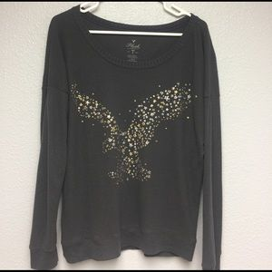 American Eagle Outfitters Tops - Very soft American Eagle Plush T long sleeve Lrg