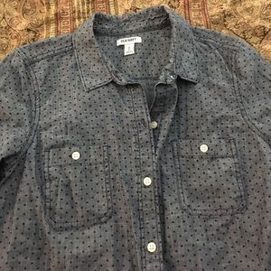 Polka dot chambray from Old Navy