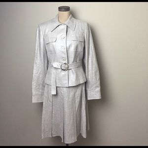 Etcetera Other - Gorgeous Etcetera metallic/linen jacket/skirt set