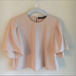 ✨Lowest Dusty pink Zara blouse